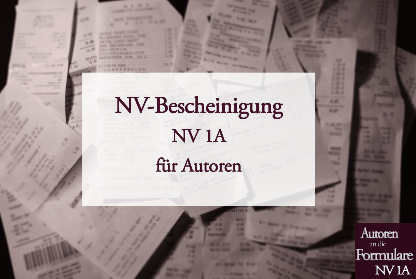 NV-Bescheinigung für Autoren | Autoren an die Formulare