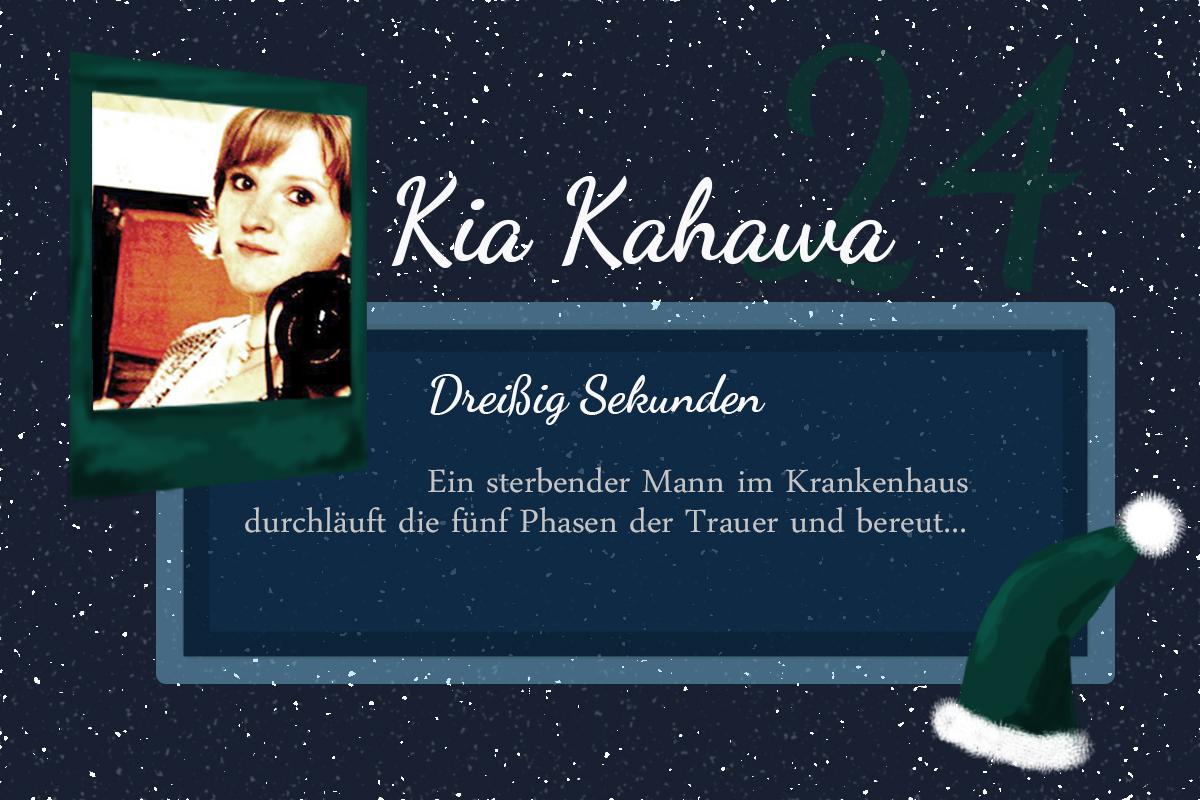 Dreißig Sekunden – #24Autoren mit Kia Kahawa