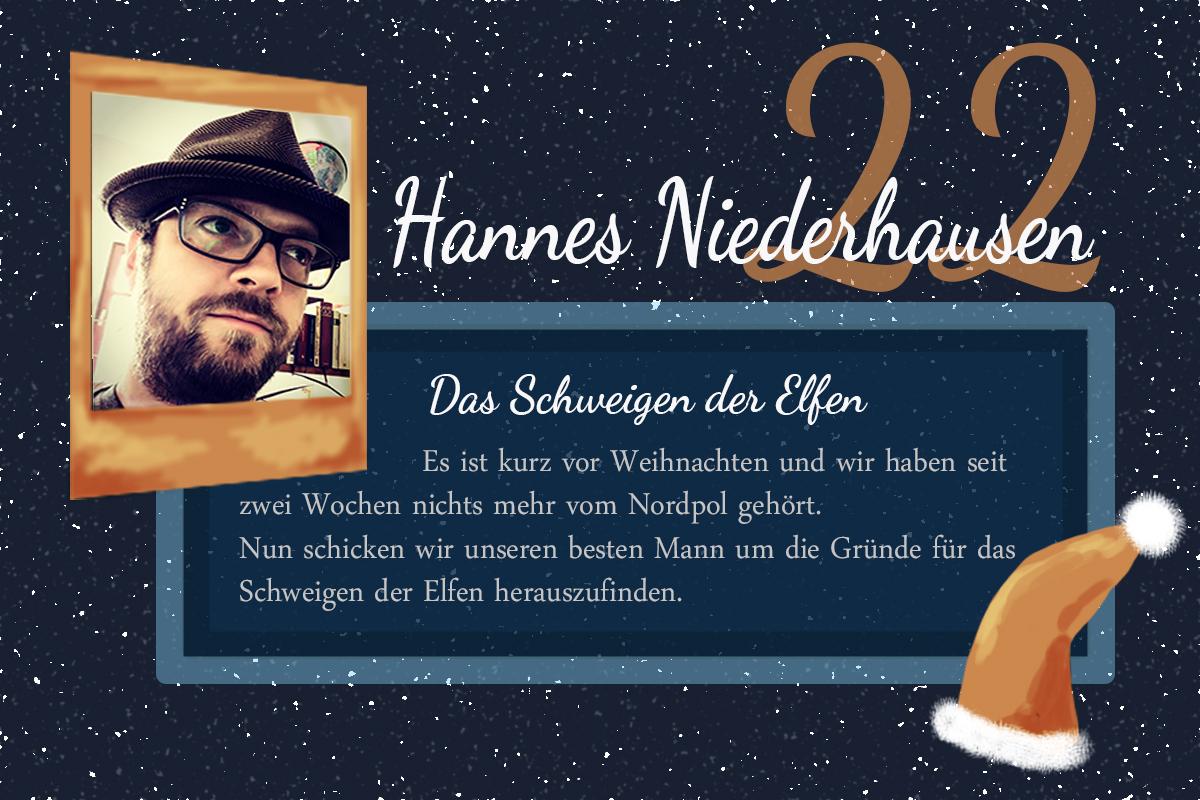 Das Schweigen der Elfen – #24Autoren mit Hannes Niederhausen