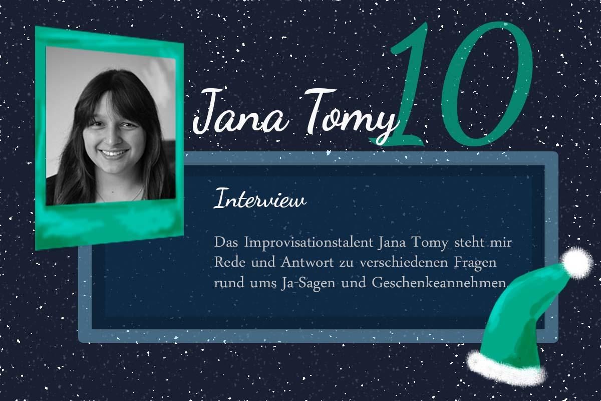Ja-Sagen und Geschenkeannehmen – #24Autoren mit Jana Tomy