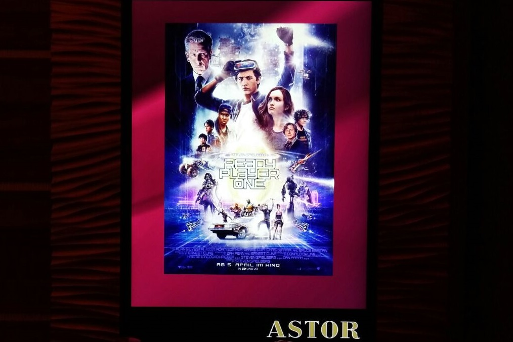 Ready Player One Filmplakat im ASTOR Kino Hannover