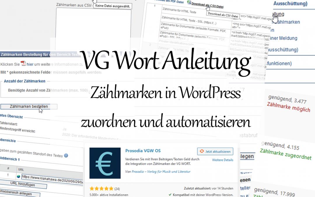 VG Wort Zählmarken in WordPress einarbeiten mit Plug-In