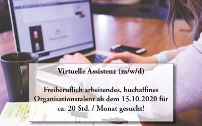 [Nicht mehr bewerben] Buchaffines Organisationstalent zum 15.10.2020 gesucht!