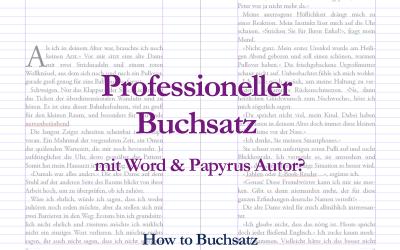 Professioneller Buchsatz mit InDesign, Papyrus oder Word – ein Vergleich