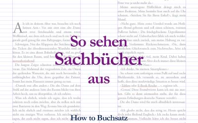 Der Sachbuch Buchsatz: So sehen Sachbücher aus!